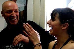 Roberto Ferri con la figlia Chiara